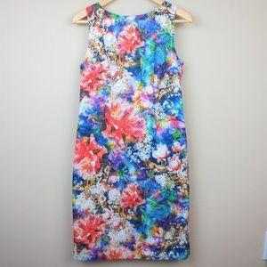 Leslie Fay Floral Eyelet Sheath Dress